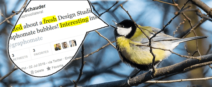 Graphomate Twitters In Design Studio