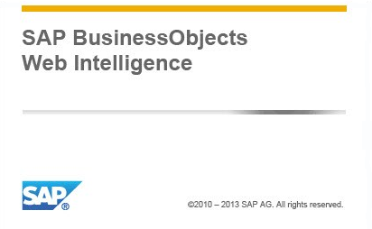 Extensions for SAP BusinessObjects Web Intelligence